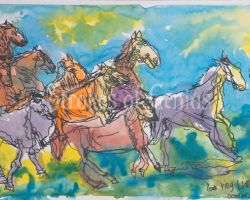 03 04325 Horses Xl  WM Painted In 2012 At The Age Of 10.67172857 Large